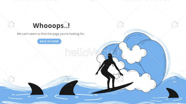 Oops page not found 404 error landing page