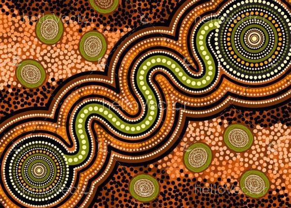 Aboriginal dot art vector image