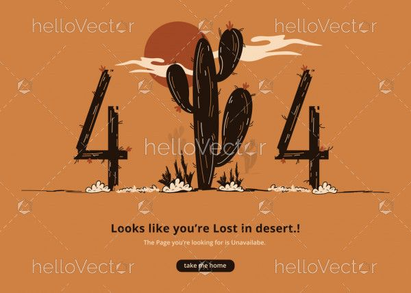 404 web page cactus and desert
