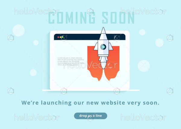 Coming Soon Page Design With Rocket