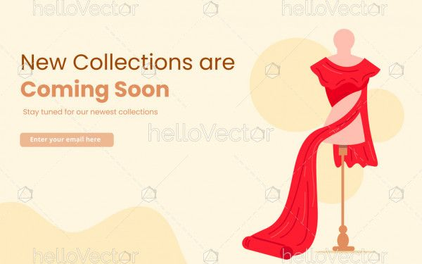 Coming soon landing page for clothing website