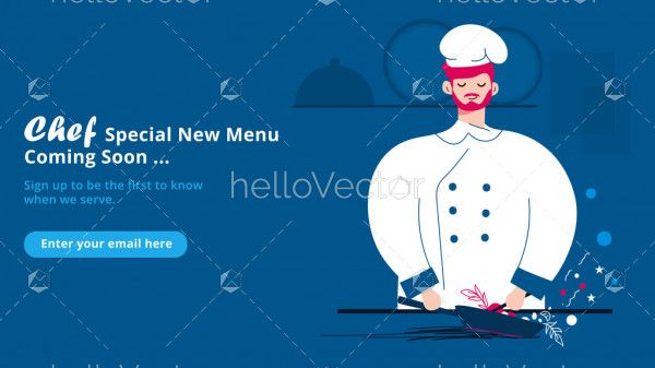 Coming soon page design for food website