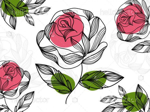 Rose flower vector background