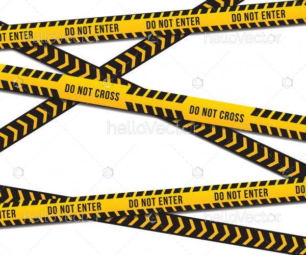 Warning Tape - Vector Illustration