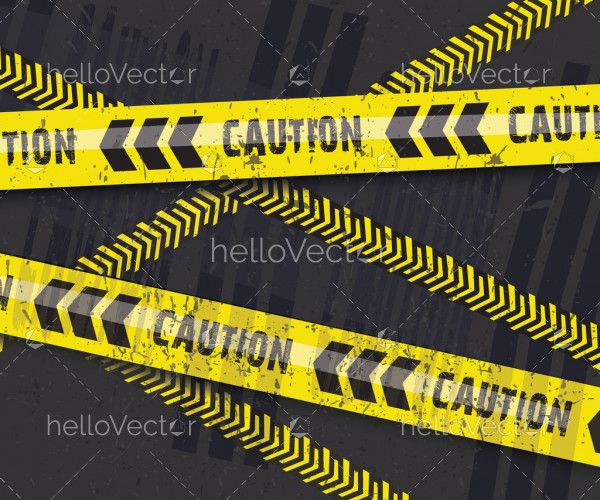 Background of caution yellow warning lines