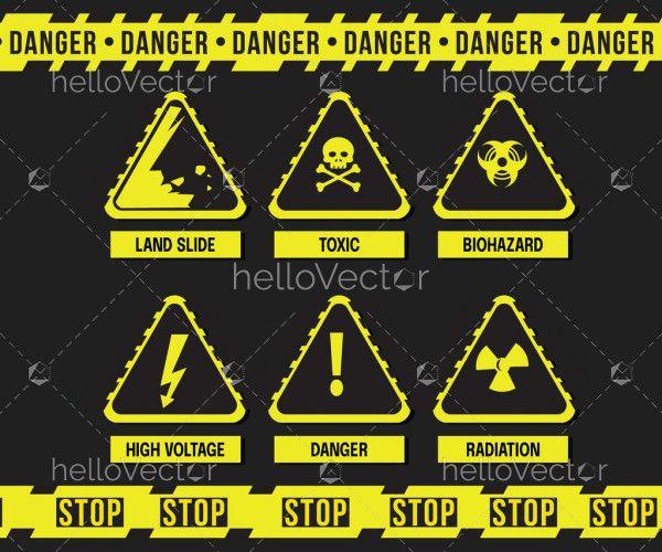 Warning Sign Vector Set