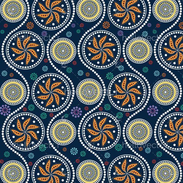 Aboriginal dot art painting - Vector Illustration