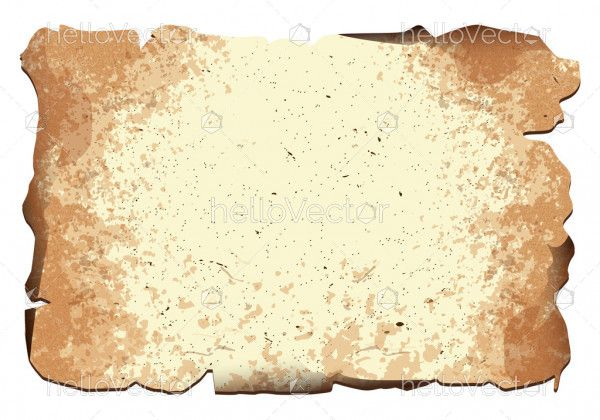 Old paper sheet vector