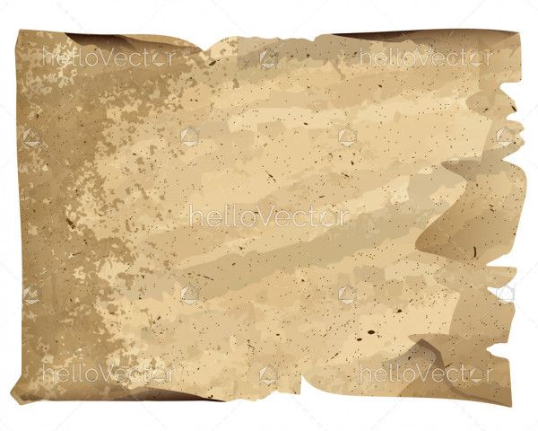 Old blank sheet of paper