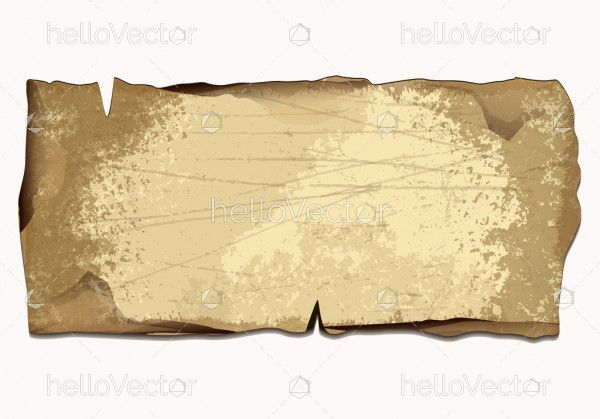 Ancient paper manuscript with empty space