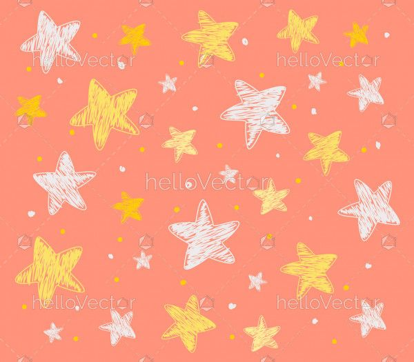 Pattern of star doodle