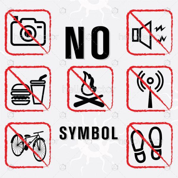 Prohibition no symbol - vector illustration