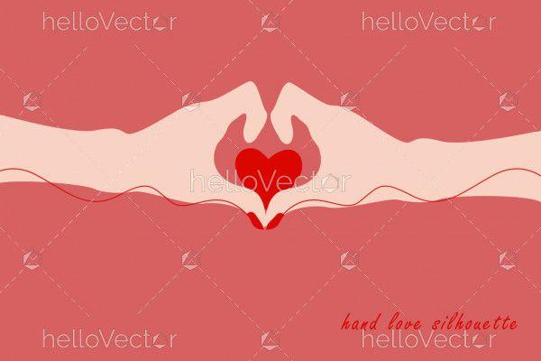 Woman Hands Making Heart Shape