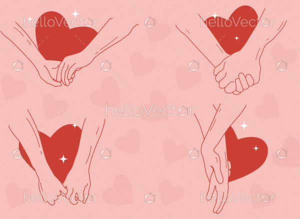 Couple Holding Hands set