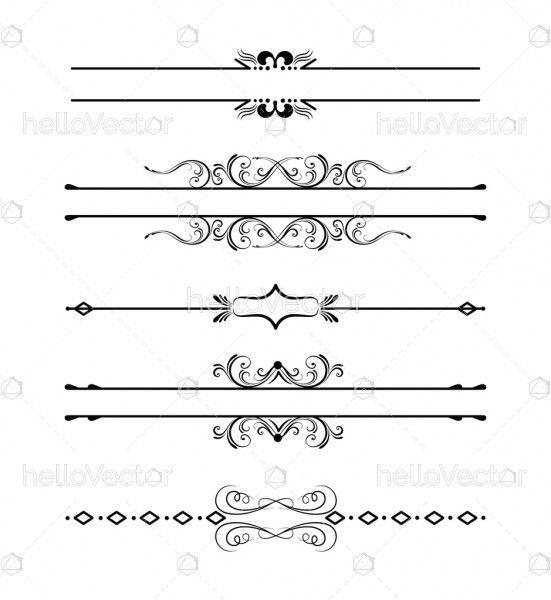 Decorative swirls divider collection