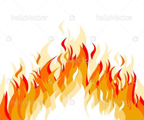 Fire flame flat cartoon style