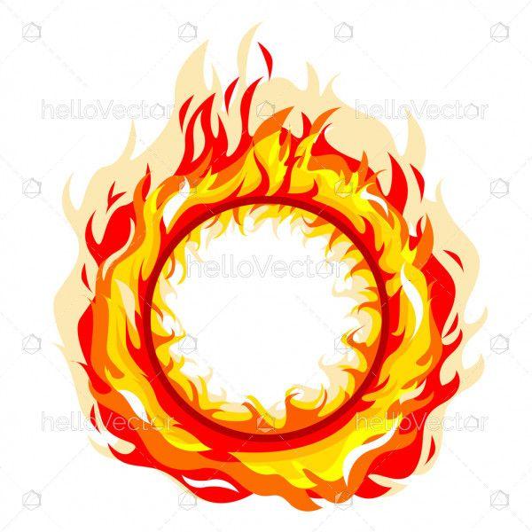 Fire Flame Circle