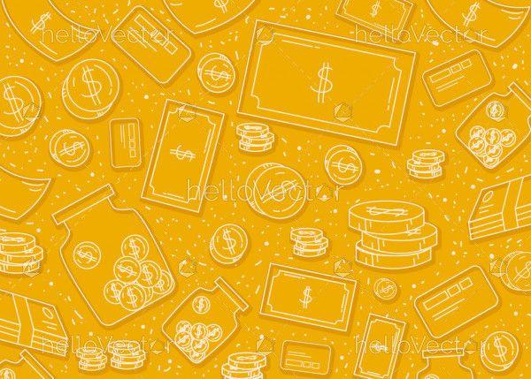 Yellow Dollar Background