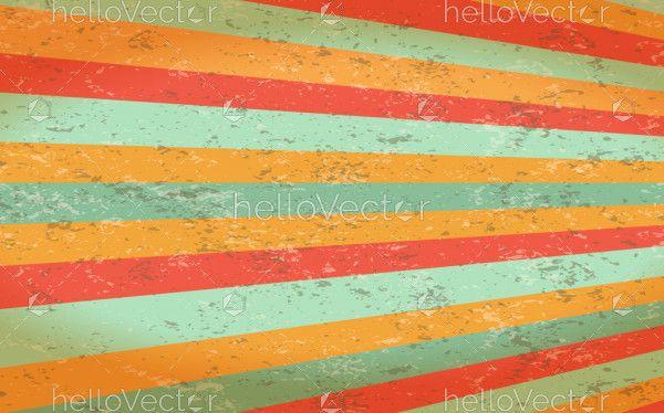 Retro colorful stripe background