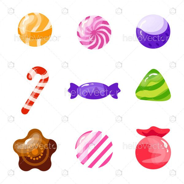 Different Sweet Candies