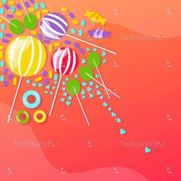 Background with candies