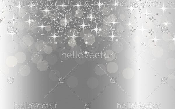 Silver bokeh background vector