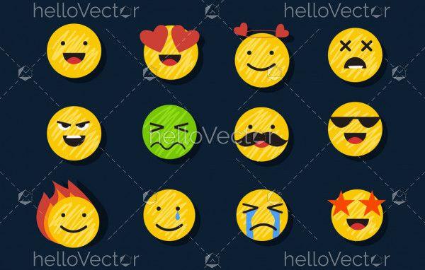 Set of emoji - Vector
