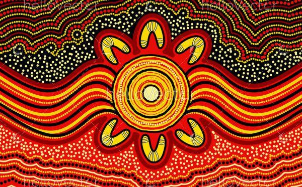 Australian aboriginal dot art