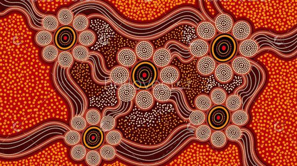 Connection background - Aboriginal dot artwork
