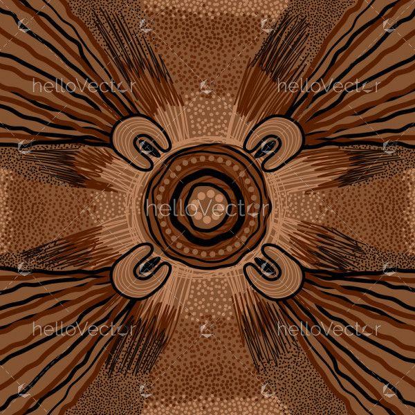 Aboriginal art background