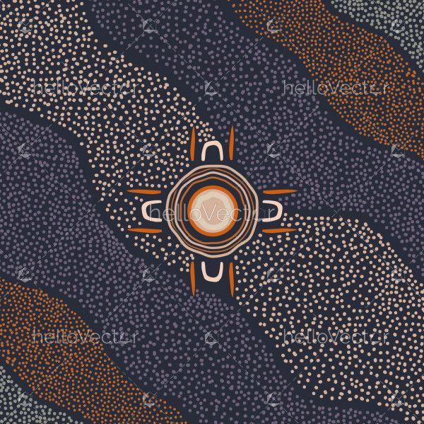 Aboriginal dot artwork
