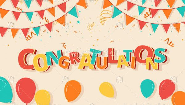 Congratulations colorful background