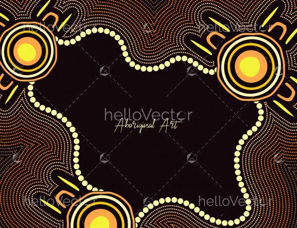 Aboriginal dot art poster background