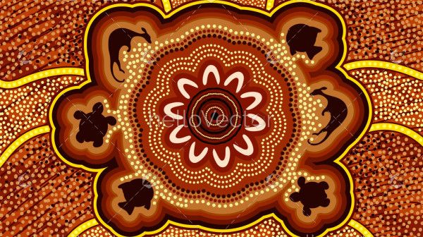 Aboriginal dot animal art