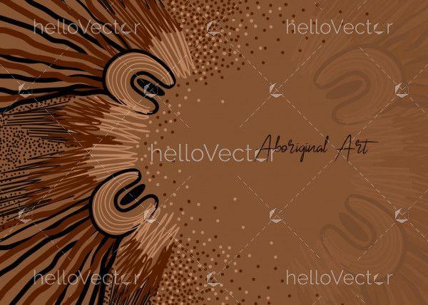 Banner design with aboriginal artwork