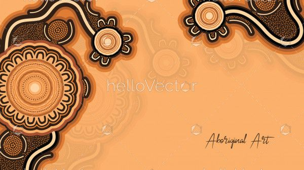 Poster design with aboriginal work