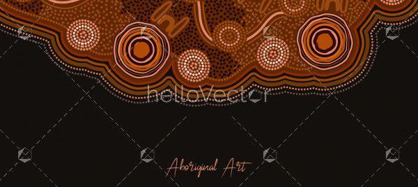 Aboriginal dot art banner