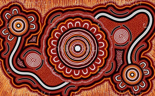 Australian dot art background