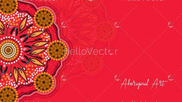 Aboriginal art banner design