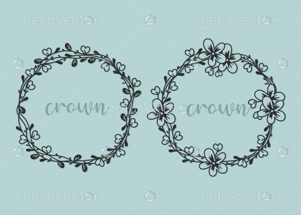 Wreath border frame vector