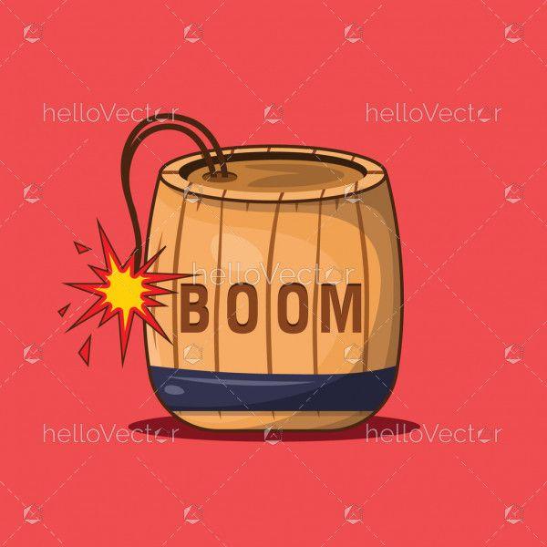 Dynamite Barrel Vector