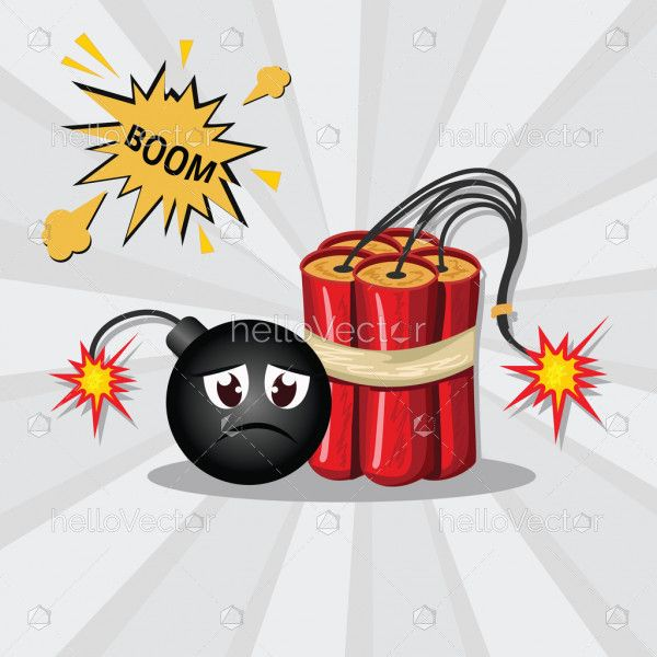 Bomb clipart with burning fuse