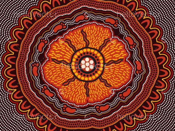 Aboriginal dot vector artwork