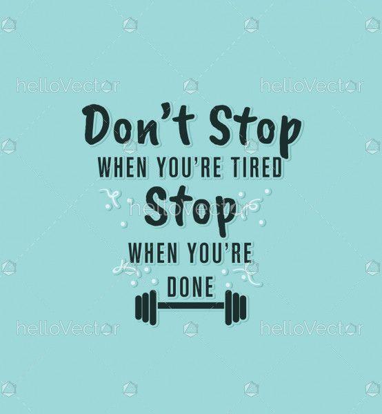 Motivational quotation vector background