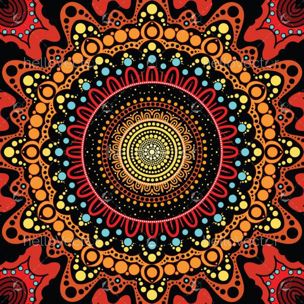 Aboriginal dot art background