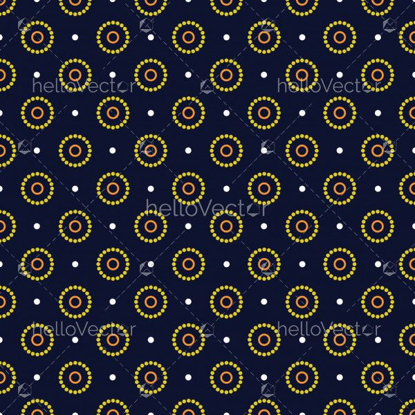 Seamless Circle, Aboriginal dot art background - Vector Illustration