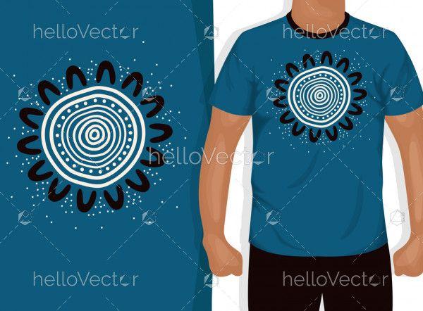 Aboriginal artwork for t-shirt