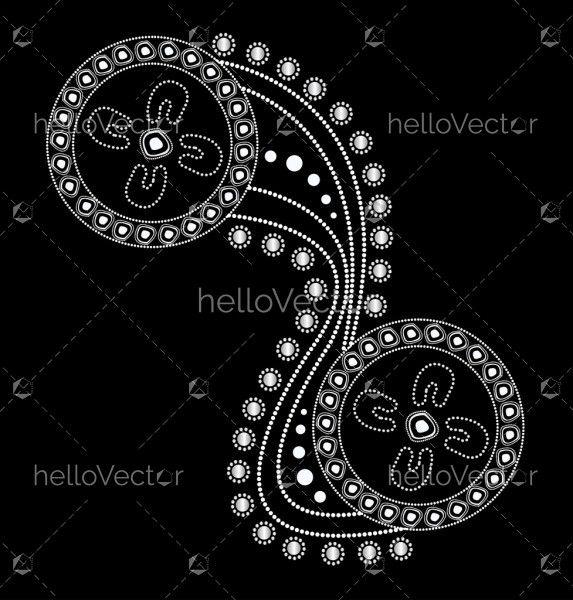 Illustration based on aboriginal style of dot painting