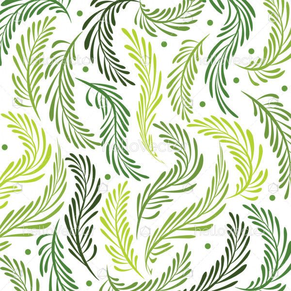 Seamless leaves background - Vector illustration