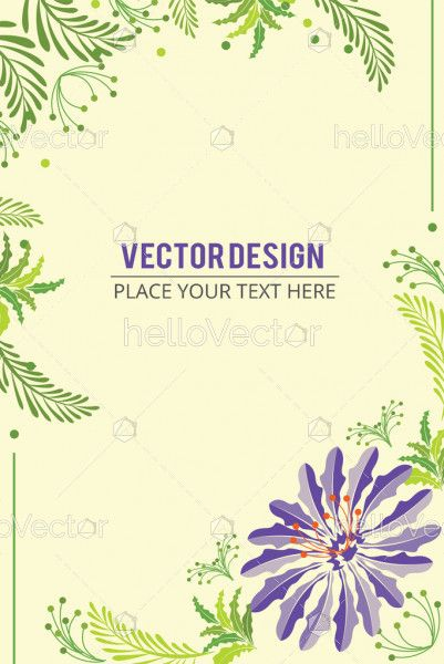 Floral Banner Background. Abstract floral effect banner with text - Vector illustration